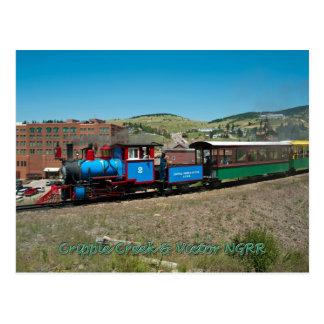 Cartão Postal Estrada de ferro do calibre estreito da angra do
