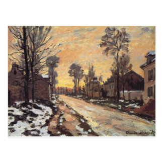 Cartão Postal Estrada em Louveciennes, neve de derretimento, por