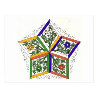 Cartão Postal Estrela de cinco elementos