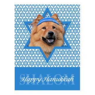 Cartão Postal Estrela de David de Hanukkah - comida de comida