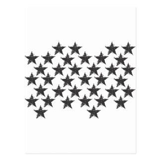 Cartão Postal estrela preta