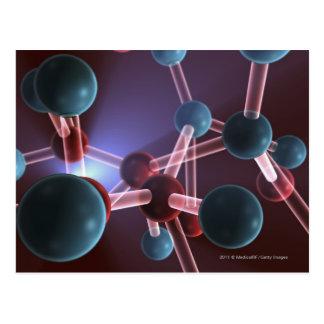 Cartão Postal Estrutura molecular da cafeína