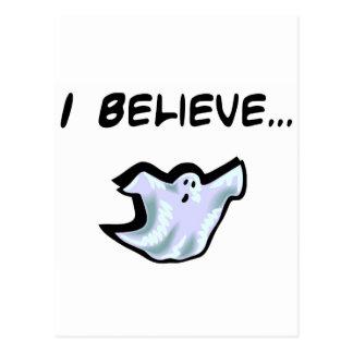 Cartão Postal Eu acredito nos fantasmas
