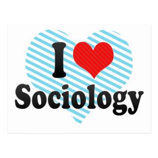 Cartão Postal Eu amo a Sociologia