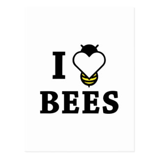 Cartão Postal Eu amo abelhas