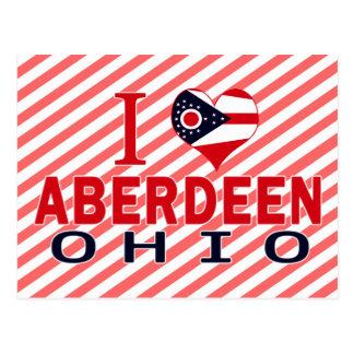 Cartão Postal Eu amo Aberdeen, Ohio