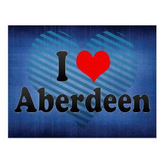 Cartão Postal Eu amo Aberdeen, Reino Unido