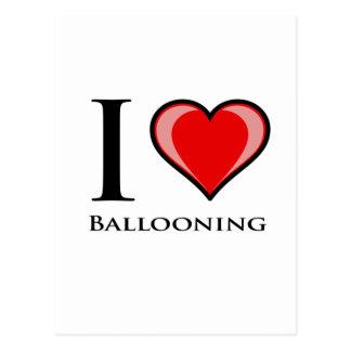 Cartão Postal Eu amo Ballooning