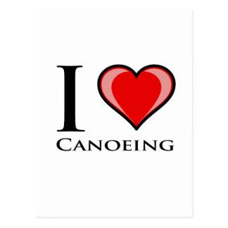 Cartão Postal Eu amo Canoeing