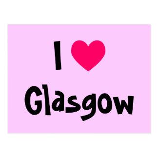 Cartão Postal Eu amo Glasgow