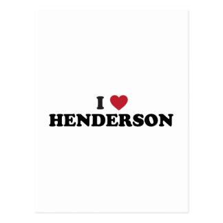 Cartão Postal Eu amo Henderson Nevada