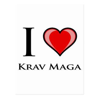 Cartão Postal Eu amo Krav Maga