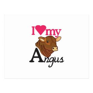 Cartão Postal Eu amo meu Angus