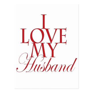 Cartão Postal Eu amo meu marido
