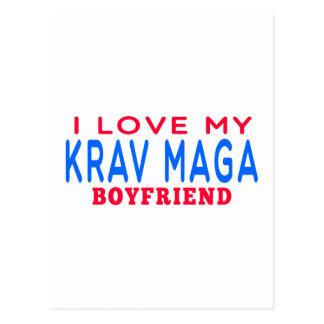 Cartão Postal Eu amo meu namorado de Krav Maga