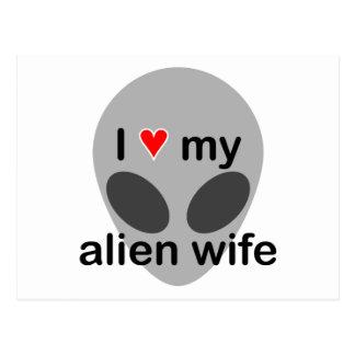 Cartão Postal Eu amo minha esposa estrangeira