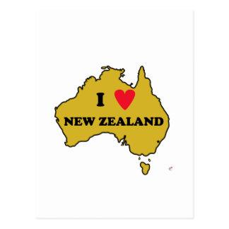 Cartão Postal Eu amo Nova Zelândia (Austrália)