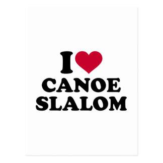 Cartão Postal Eu amo o slalom da canoa