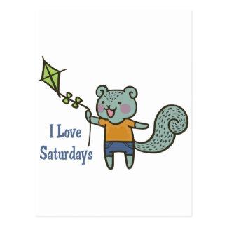 Cartão Postal Eu amo sábados