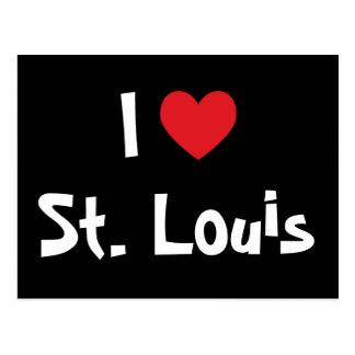 Cartão Postal Eu amo St Louis