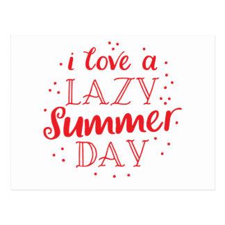 Cartão Postal eu amo um dia de verão preguiçoso