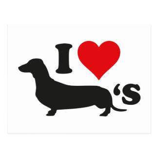 Cartão Postal Eu amo Wieners