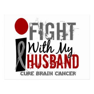 Cartão Postal Eu luto com meu cancro cerebral do marido
