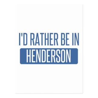 Cartão Postal Eu preferencialmente estaria em Henderson
