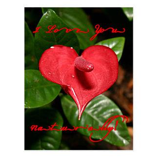 Cartão Postal Eu te amo naturalmente! - Dia dos namorados +