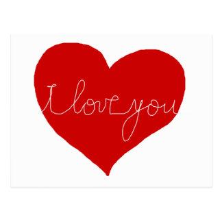 Cartão Postal Eu te amo, romântico