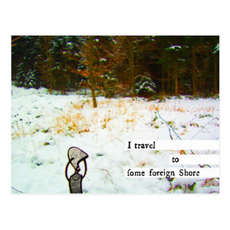 Cartão Postal eu viajo a alguma costa estrangeira
