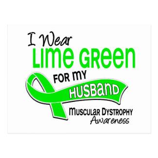 Cartão Postal Eu visto a distrofia muscular do marido do verde