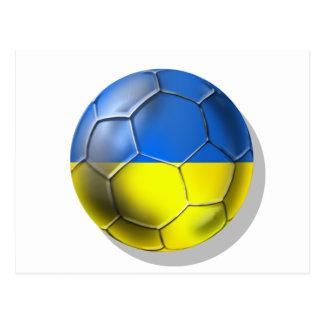 Cartão Postal Euro 2014 de Brasil Ucrânia 2012 do futebol do