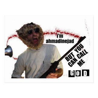 Cartão Postal Exposição engraçada de Ahmadinejad