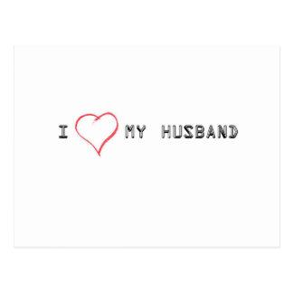 Cartão Postal Expressando o amor para meu marido