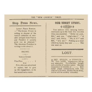 Cartão Postal Extrato do fac-símile dos tempos 1916 dos