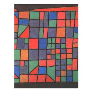 Cartão Postal Fachada de vidro por Paul Klee