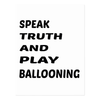 Cartão Postal Fale ballooning. da verdade e do jogo