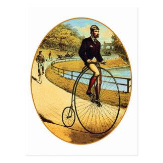 Cartão Postal Farthing alto da moeda de um centavo do veículo