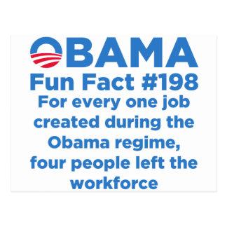 Cartão Postal Fatos de divertimento de Obama