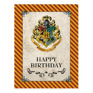 Cartão Postal Feliz aniversario de Harry Potter | Hogwarts