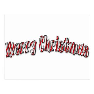 Cartão Postal Feliz Natal - bastão de doces