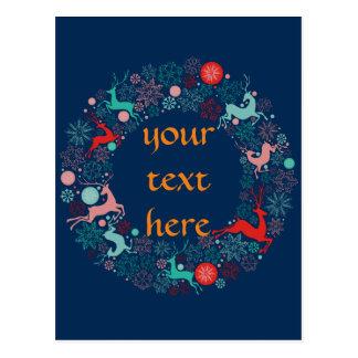 Cartão Postal Feliz Natal e newyear feliz