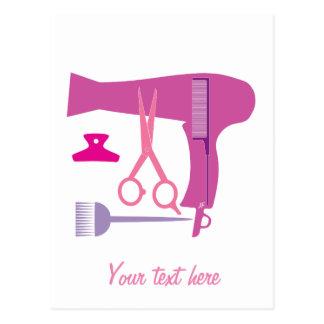 Cartão Postal Ferramentas dos penteados