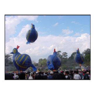 Cartão Postal Festival quente do balão