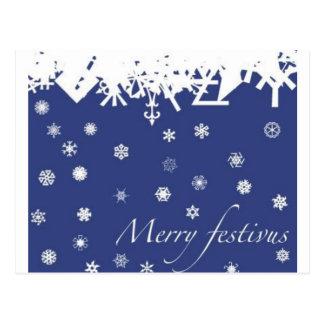 Cartão Postal Festivus alegre