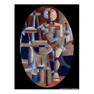 Cartão Postal Figura rendição do Cubist