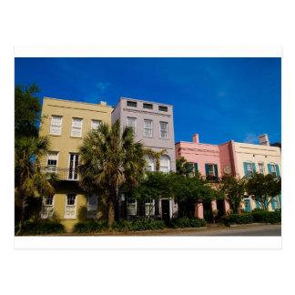 Cartão Postal Fileira Charleston do arco-íris, SC