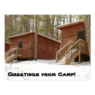 Cartão Postal Fileira da cabine no inverno!