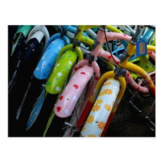Cartão Postal Fileira das bicicletas